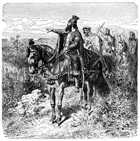 كوروش بزرگ در راه شهر بابل