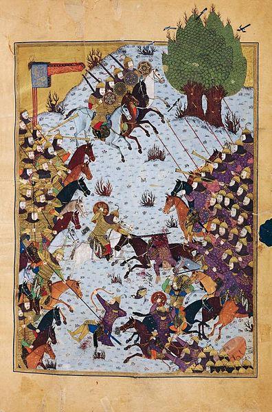 نبرد سپاه ایران به رهبری کیخسرو با سپاه توران به رهبری افراسیاب