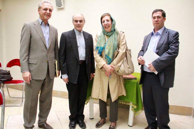 علی دهباشی، دکتر ژاله آموزگار، خشایار بهاری و مهندس تورج اتحادیه