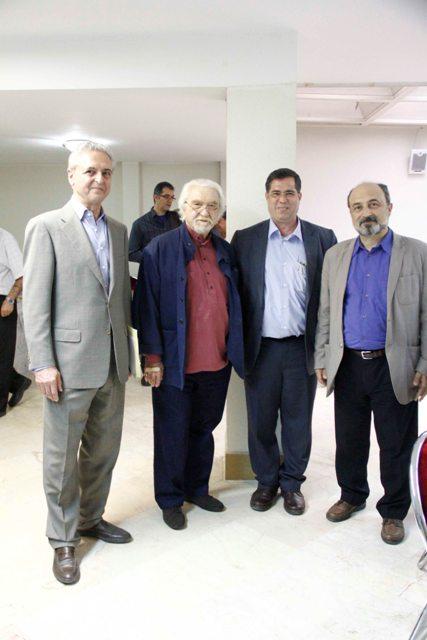 داریوش طلایی، علی دهباشی، دکتر داریوش شایگان و مهندس تورج اتحادیه
