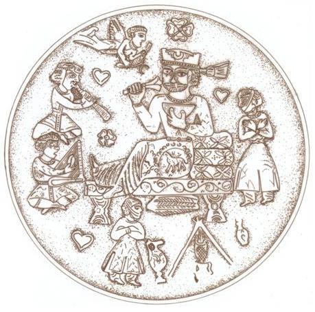 بشقاب نقره - ساسانی (موزهٔ آرمیتاژ)