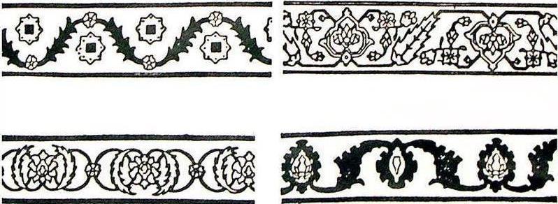9. طرحهای حاشیهی قالی هراتی (حصوری، 12)