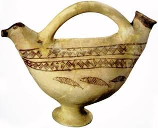 10. سفالینهی هزارهی چهارم پ.م.، تل باکون (موزهی ملی ایران)